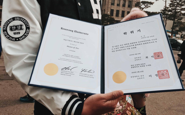Bằng tốt nghiệp đại học Hanyang