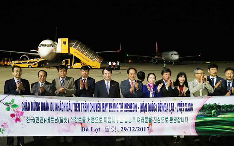 Lễ chào mừng mở đường bay Incheon - Đà Lạt