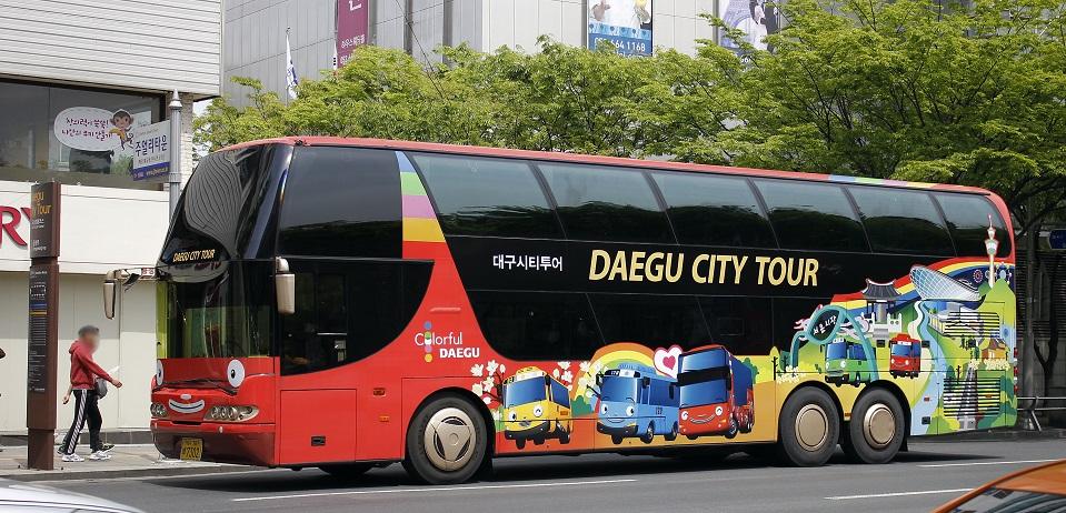 Xe city bus tham quan Daegu về đêm